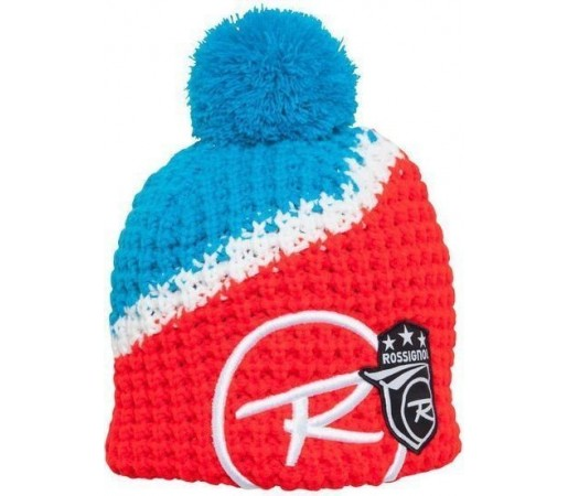Caciula Rossignol World Cup Pompon Red/Blue