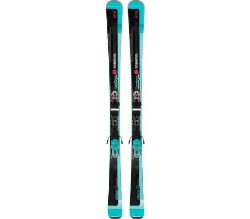 Skiuri cu Legaturi Femei Rossignol Famous 2/XPRESS W 10 B83 2019 Negru / Albastru
