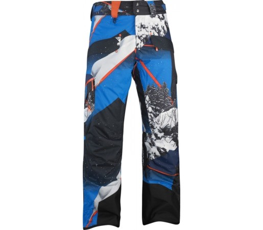 Pantaloni Salomon Zero M Union Blue Orange Glow BL