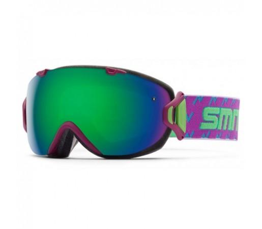 Ochelari ski si snowboard Smith I/OS Bright Plumarch Green-Solx