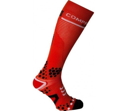 Sosete compresie Compressport Full Socks V2 Red