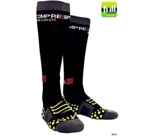 Sosete compresie Compressport Full Socks negre 2013