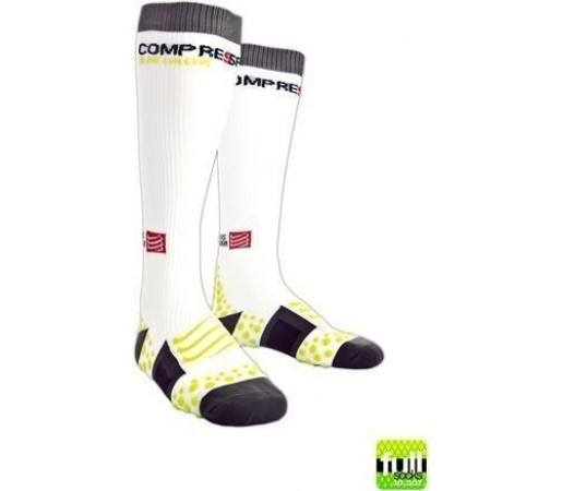 Sosete compresie Compressport Full Socks albe 2013
