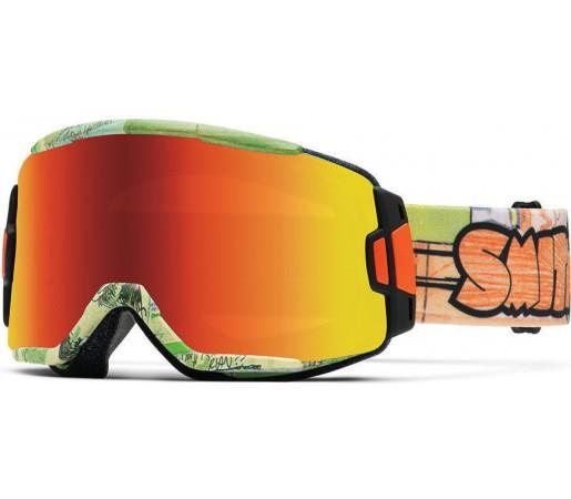 Ochelari Schi si Snowboard Smith Squad Orange Jenkins/ Red Sol-X mirror