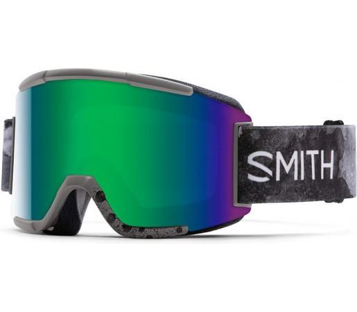Ochelari de schi si snowboard Smith Squad Gri Cement/ Green SOLX