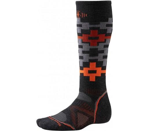 Sosete SmartWool PhD Snowboard Medium Pattern Socks Orange/Grey