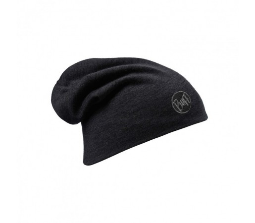 Caciula Buff Wool Thermal Loose Solid Neagra