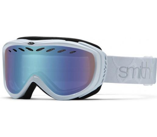 Ochelari de schi si snowboard Smith Transit Pro White/Blue Sensor Mirror