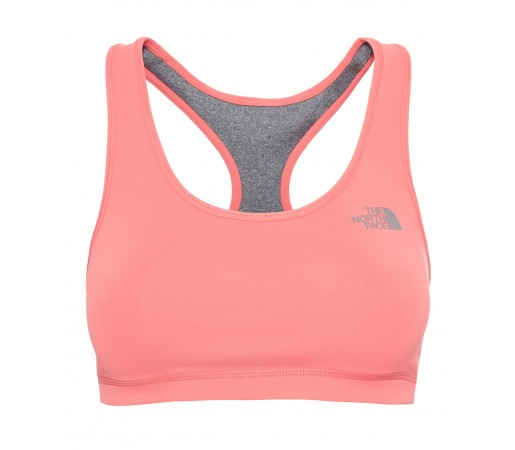 Bustiera The North Face W Bounce-B-Gone Bra Gri/Portocalie