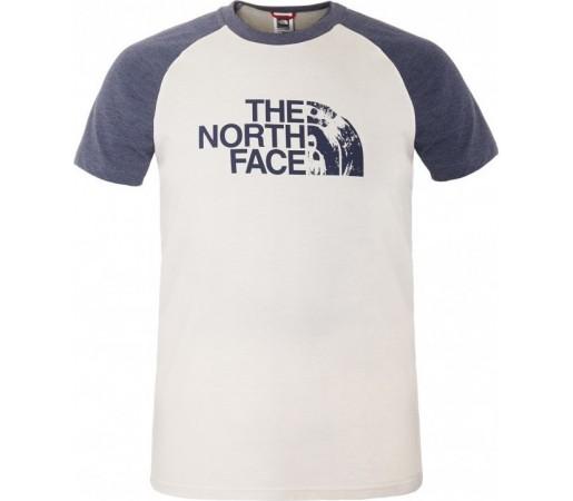 Tricou The North Face M S/S Seasonal Print Raglan Alb