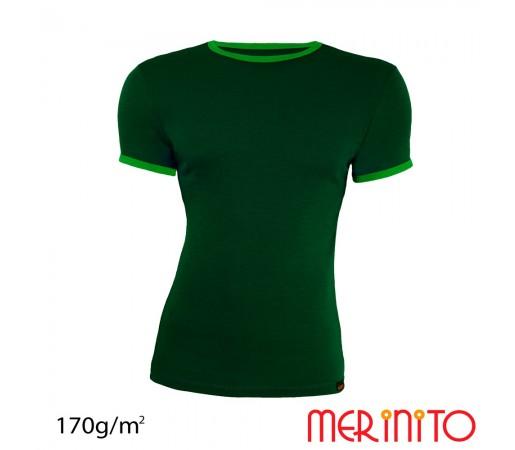 Tricou Merinito Barbati Verde Forest