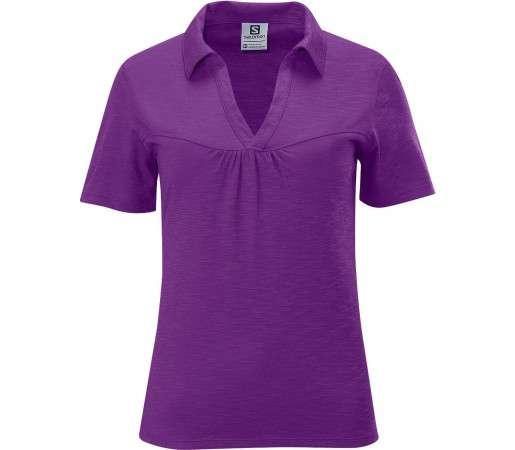 Tricou Salomon Mountain Polo W Purple 2013