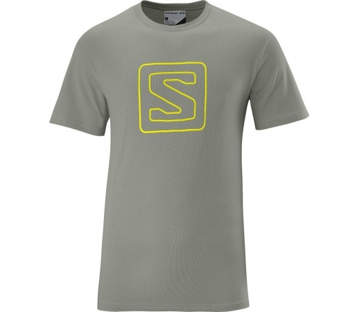 Tricou Salomon Poly Logo Tee M Grey 2013