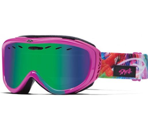 Ochelari Schi si Snowboard Smith CADENCE Magenta Tropidelic / Green Sol-X mirror