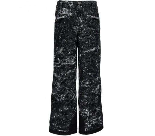 Pantaloni schi si snowboard Spyder Vixen Tailored Girl Negri/ Argintii