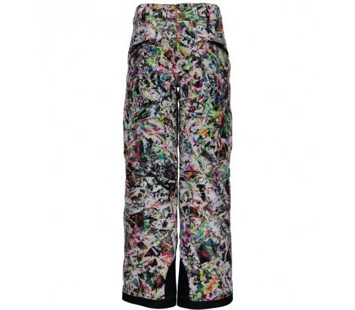 Pantaloni schi si snowboard Spyder Vixen Tailored Girl Albi cu print