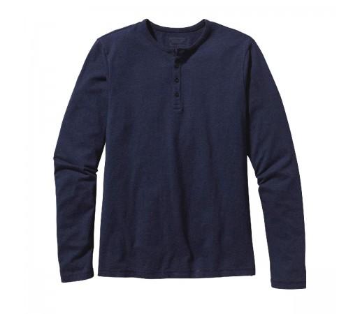 Bluza Barbati Patagonia L/S Daily Henley Navy Blue  (Bleumarin)