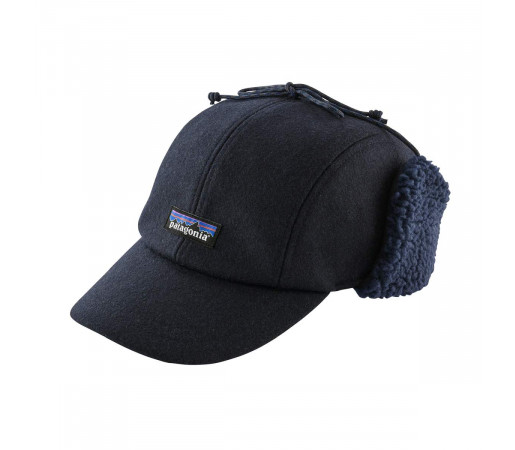 Sapca Patagonia Recycled Wool Ear Flap Cap Classic Navy (Bleumarin)
