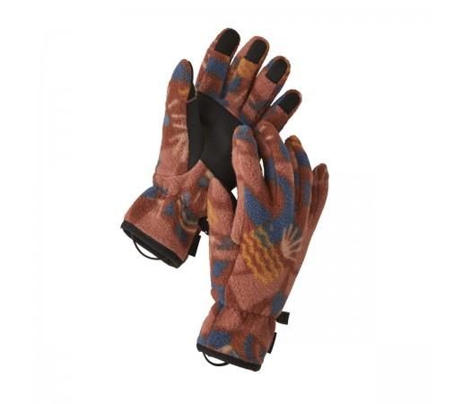 Manusi Patagonia Synchilla Gloves Canyon Block Big / Sisu Brown (Multicolor)
