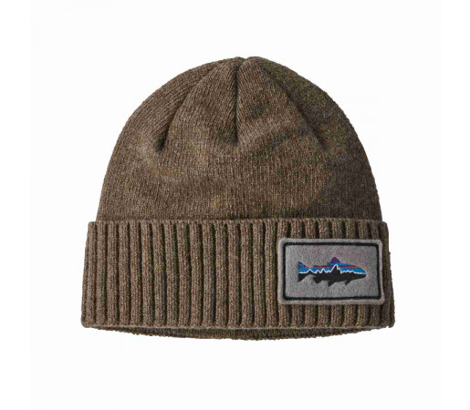 Caciula Patagonia Brodeo Beanie Fitz Roy Trout Patch / Ash Tan (Multicolor)