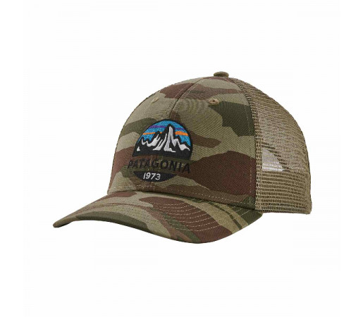 Sapca Patagonia Fitz Roy Scope LoPro Trucker Hat Bear Witness Camo / Sage Khaki (Camuflaj)