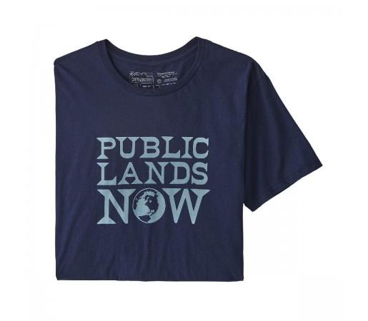 Tricou Barbati Patagonia Public Lands Now Organic T-Shirt Classic Navy  (Bleumarin)