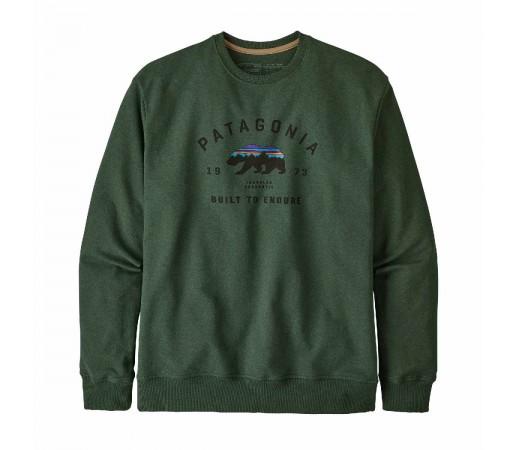 Bluza Barbati Patagonia Arched Fitz Roy Bear Uprisal Crew Sweatshirt Alder Green  (Verde)
