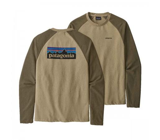 Bluza Barbati Patagonia P-6 Logo LW Crew Sweatshirt El Cap Khaki  (Bej)