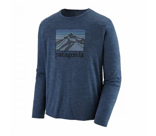 Bluza Barbati Patagonia L/S Capilene Cool Daily Graphic Shirt Stone Blue X-Dye  (Albastru)