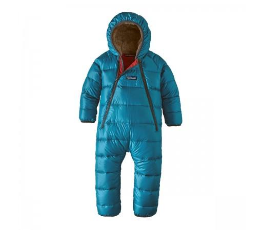 Combinezon Ski Copii 0-5 ani Patagonia Infant Hi-Loft Down Sweater Bunting Balkan Blue (Albastru)