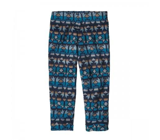 Pantaloni Polar Copii 0-5 ani Patagonia Baby Micro D Bottoms Balkan Blue (Multicolor)