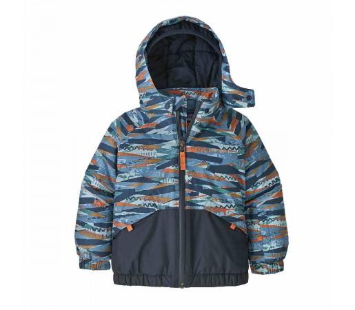 Geaca Ski Copii 0-5 ani Patagonia Baby Snow Pile Play Stripe / Woolly Blue (Multicolor)
