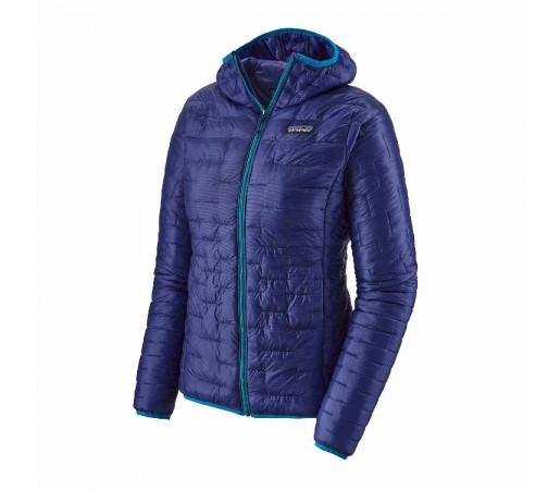 Geaca Hiking Femei Patagonia Micro Puff Hoody Cobalt Blue  (Albastru)
