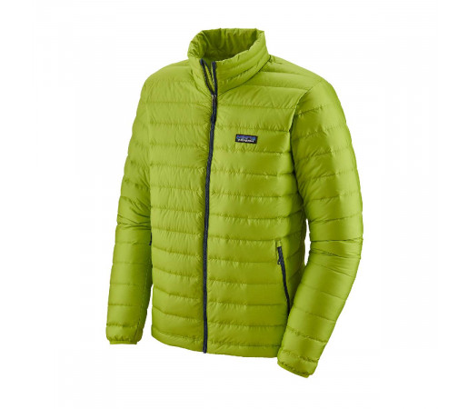 Geaca Puf Barbati Patagonia Down Sweater Peppergrass Green w/Classic Navy  (Multicolor)