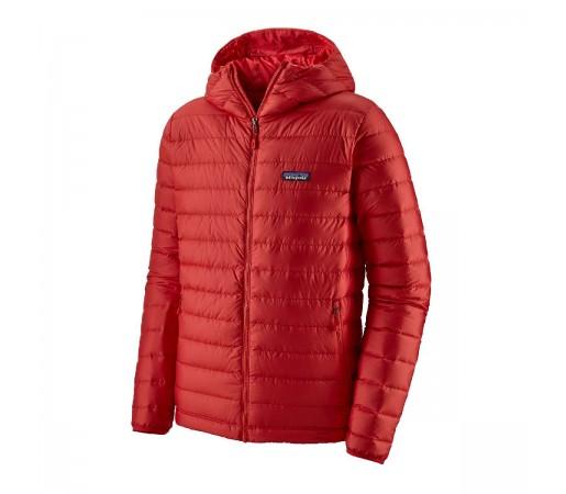 Geaca Puf Barbati Patagonia Down Sweater Hoody Fire w/Fire  (Rosu)