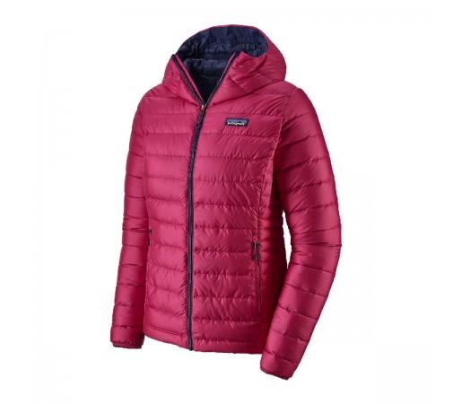 Geaca Puf Femei Patagonia Down Sweater Hoody Craft Pink w/Classic Navy  (Roz)