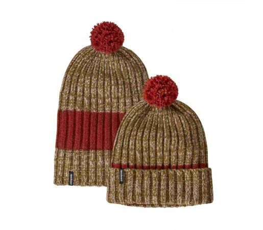Caciula Patagonia Wool Pom Beanie Hot Ember (Multicolor)