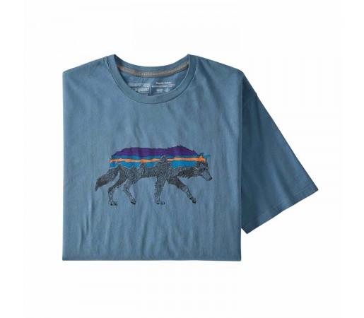 Tricou Drumetie Barbati Patagonia Back For Good Organic T-Shirt Albastru