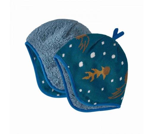 Caciula Copii Patagonia Baby Reversible Beanie Cosmic Dreams Knit: Crater Blue (Albastru)