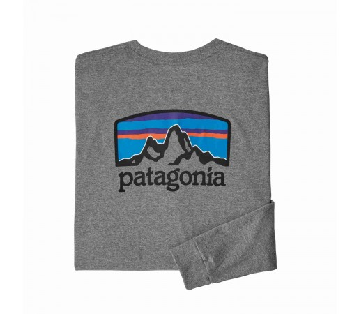 Bluza Barbati Patagonia L/S Fitz Roy Horizons Responsibili-Tee Gravel Heather (Gri)