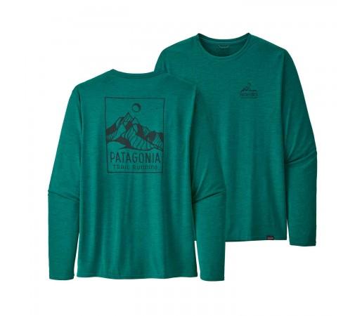 Bluza Drumetie Barbati Patagonia L/S Capilene Cool Daily Graphic Shirt Turcoaz