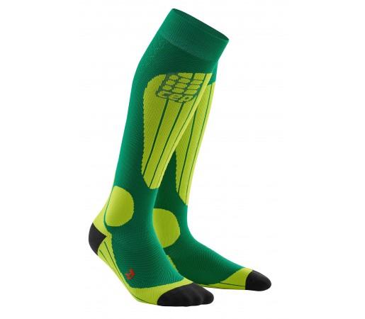 Sosete CEP Progressive+ Schi Thermo W Verde / Verde