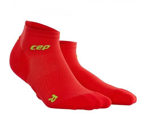 Sosete Alergare CEP Dynamic+ Run Ultralight Low-Cut W Rosu / Verde