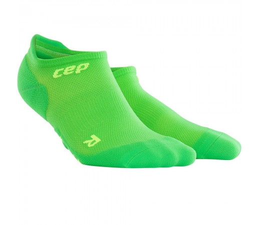 Sosete Alergare CEP Dynamic+ Run Ultralight No-Show M Verde / Verde