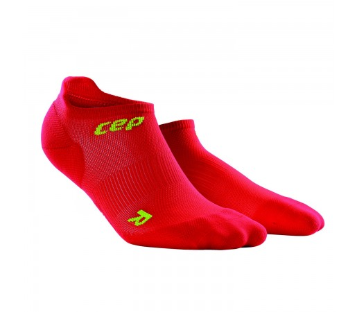 Sosete Alergare CEP Dynamic+ Run Ultralight No-Show M Rosu / Verde