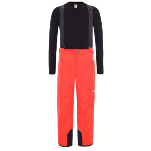 Pantaloni Ski Copii The North Face Youth Snow Suspender Plus Pant Fiery Red (Rosu)