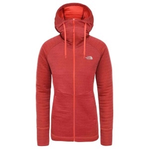 Hanorac Femei The North Face Hikesteller Midlayer Radiant Orange/Cardinal Red (Caramiziu)