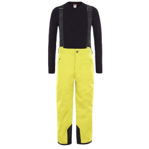 Pantaloni Ski Copii The North Face Youth Snow Suspender Plus Pant Citro Green (Galben)
