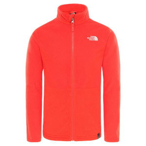 Polar Drumetie Copii The North Face Youth Snow Quest Full Zip R Fiery Red (Rosu)