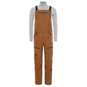 Pantaloni Ski Barbati The North Face Vapor Brigandine Bib British Khaki Regular (Maro)